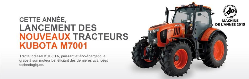 Lancement des nouveaux tracteurs KUBOTA M7001